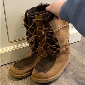 Ugg Two-Tone Lace-Up Boots